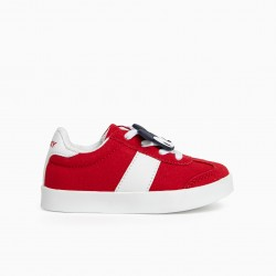 'MICKEY ZY RETRO' BABY BOY SHOES, RED
