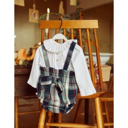 BODY-BLOUSE + SHORTS WITH STRAPS FOR NEWBORN 'B & S', MULTICOLOR