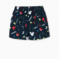 SWIM SHORTS FOR BABY BOYS, 'MICKEY MOUSE SPACE', DARK BLUE