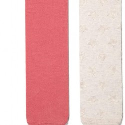 2 KNITTED TIGHTS FOR GIRLS 'STARS', BEIGE AND PINK