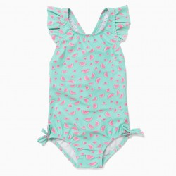 BABY GIRL'S 'WATERMELONS' SWIMSUIT, GREEN