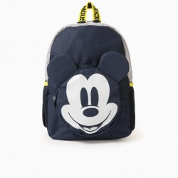 BABY BOY 'MICKEY MOUSE' BACKPACK, DARK BLUE/GREY