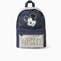 'MICKEY' BOY'S BACKPACK, GREY/DARK BLUE