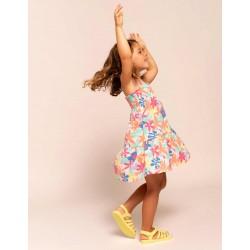 FLOWER GIRL STRAPS DRESS, MULTICOLOR