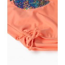 STRAWBERRY UV 80 PROTECTION SWIMSUIT FOR GIRLS, ORANGE