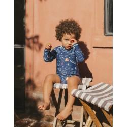 UPF 80 SWIMSUIT FOR BABY BOY, DARK BLUE