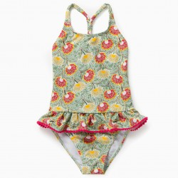 FLOWERS 80 UV PROTECTION SWIMSUIT, GREEN