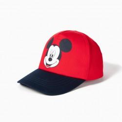 BABY BOY CAP 'MICKEY', RED AND DARK BLUE