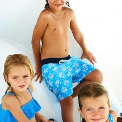 'B&S' BOY'S SWIM SHORTS ANTI-UV 80, BLUE