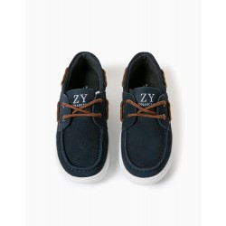 SUEDE SHOES FOR BOYS, DARK BLUE