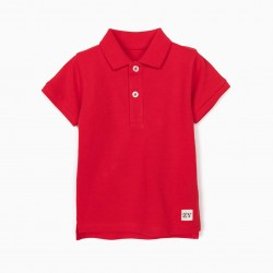 SHORT SLEEVE POLO FOR BABY BOY, RED