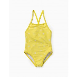 PRINTED SWIMSUIT FOR BABY GIRL, YELLOW