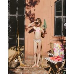UV PROTECTION 60 GIRL BIKINI 'FRUITS' SALMON