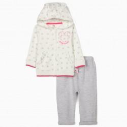 TRACKSUIT FOR BABY GIRLS 'MINNIE GALAXY', WHITE/GREY