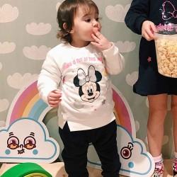 SWEATSHIRT FOR BABY GIRLS 'MINNIE MOUSE WORLD', WHITE