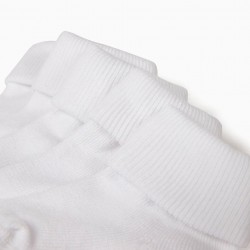 PACK 5 PAIRS OF WHITE SOCKS WITH CUFFS