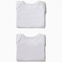 PACK 2 WHITE LONG SLEEVE BODIES