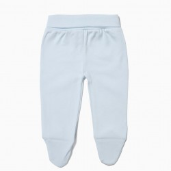 PACK 2 PANTS WITH FEET BLUE AND WHITE