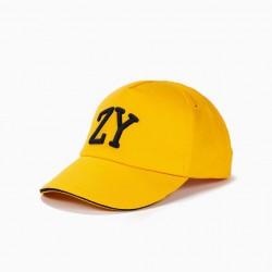 BOYS 'ZY' CAP, YELLOW