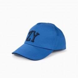 BOYS 'ZY' CAP, BLUE