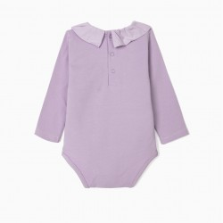 BABY BODY WITH FRILL, LILAC