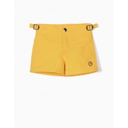 BABY BOY SWIM SHORTS, YELLOW