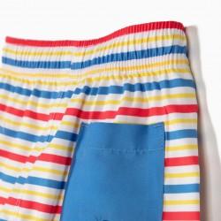 MICKEY' BABY SHORTS FOR BOYS' ANTI-UV 80 STRIPES, MULTICOLOR