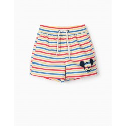 MICKEY' BABY SHORTS FOR BOYS' ANTI-UV 80 STRIPES, MULTICOLOR