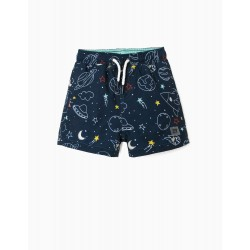 PLANETS UV 80 BOARDSHORT FOR BABY BOY 'PLANETS', BLUE