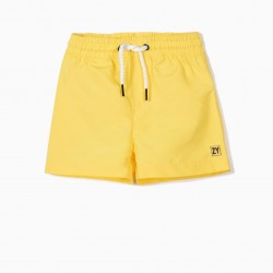 2 SHARKS BABY BOY SHORTS, YELLOW