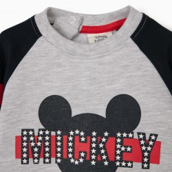 BABY BOY SWEATSHIRT 'MICKEY', GRAY / DARK BLUE