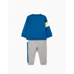 MICKEY - MY UNIVERSE' BABY BOY TRACKSUIT, BLUE / GRAY