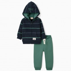 BABY BOY TRACKSUIT, DARK BLUE/GREEN