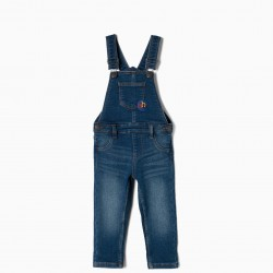 DENIM OVERALLS FOR BABY BOY 'ABC', BLUE