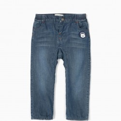 SAVE THE ARTIC BABY BOY JEANS, BLUE