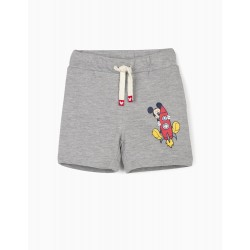 'MICKEY' BABY BOY TRAINING SHORTS, GRAY