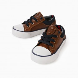 BABY BOY SHOES 'ZY', BROWN