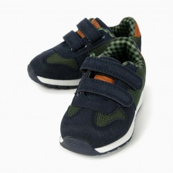 COMBINED BABY SHOES 'ZY', BLUE AND GREEN