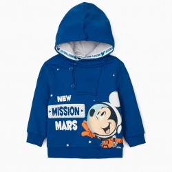 MICKEY MISSION BABY BOY HOODED SWEATSHIRT, BLUE