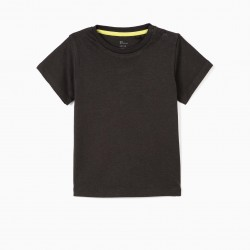 2 T-SHIRTS FOR BABY BOY 'EARTH', LIME YELLOW / DARK GRAY