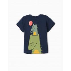 BABY BOY 'CROCS' T-SHIRT, DARK BLUE
