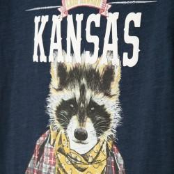 'KANSAS' BOY'S T-SHIRT, DARK BLUE