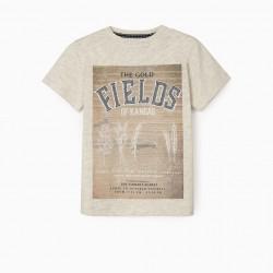 'FIELDS' BOY T-SHIRT, BEIGE