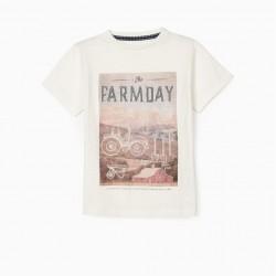 'FARMDAY' BOY T-SHIRT, WHITE