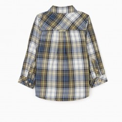 CHECKERED SHIRT FOR BABY BOY, MULTICOLOR