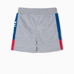 'ZY 96' BABY BOY TRAINING SHORTS, GRAY