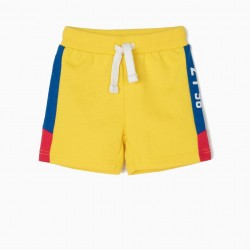 'ZY 96' BABY BOY TRAINING SHORTS, YELLOW