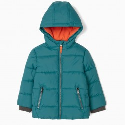 PADDED JACKET FOR BABY BOY, BLUE