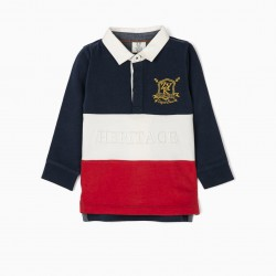 HERITAGE BABY BOY POLO, BLUE / RED / WHITE