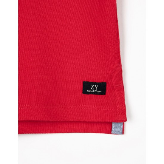 SHORT SLEEVE POLO SHIRT FOR BABY BOY, RED